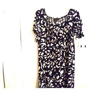 INC Black and White Dress Size 2x